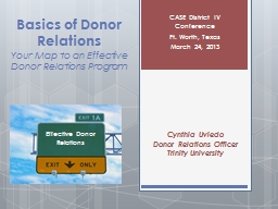 Basics of Donor