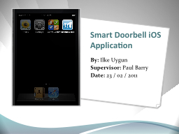 Smart Doorbell iOS Application