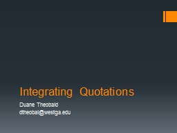 Integrating Quotations PowerPoint PPT Presentation