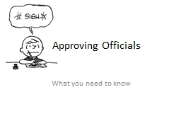 Approving Officials