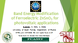 Band Energy Modification of Ferroelectric ZnSnO PowerPoint PPT Presentation