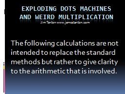 Exploding Dots Machines