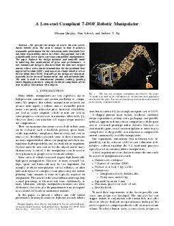 A Lowcost Compliant DOF Robotic Manipulator Morgan Quigley Alan Asbeck and Andrew Y