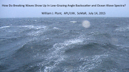 How Do Breaking Waves Show Up In Low-Grazing Angle Backscat