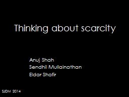 Thinking about scarcity PowerPoint PPT Presentation