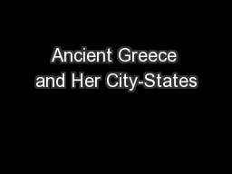 Ancient Greece and Her City-States