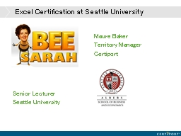 Excel Certification at Seattle University PowerPoint PPT Presentation