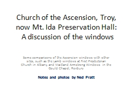 Church of the Ascension, Troy,