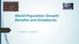 World Population Growth: Benefits and Drawbacks