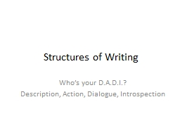 Structures of Writing