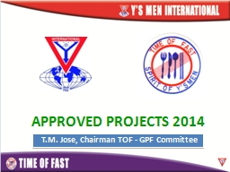 APPROVED PROJECTS 2014