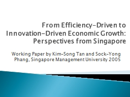 From Efficiency-Driven to Innovation-Driven Economic Growth