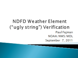 NDFD Weather Element