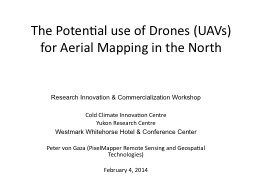 The Potential use of Drones (UAVs) for Aerial Mapping in th