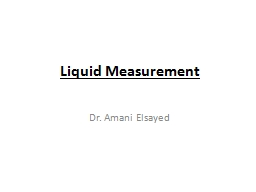 Liquid Measurement