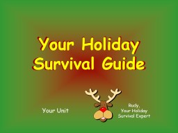Make the Holiday Season Fun and Safe PowerPoint PPT Presentation