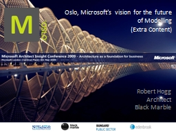 Oslo, Microsoft's vision for the future of Modelling