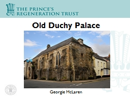 Old Duchy Palace