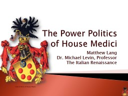 Coat of Arms of House Medici