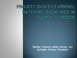 Project Based Learning: Hatching Ducklings In Your Classroo