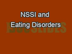NSSI and Eating Disorders