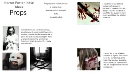 Horror Poster Initial Ideas PowerPoint PPT Presentation
