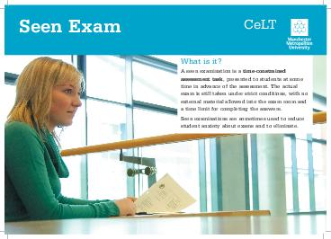 What is it A seen examination is a timeconstrained assessment task  presented to PDF document - DocSlides