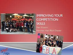 IMPROVING YOUR COMPETITION SKILLS