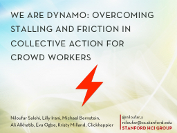 we  are dynamo: overcoming stalling and friction in collect