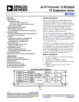 C Accurate  Bit Digital C Temperature Sensor Data Sheet ADT Rev