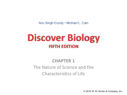 Discover Biology PowerPoint PPT Presentation