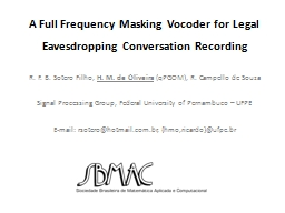 A Full Frequency Masking
