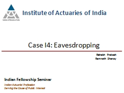 Indian Actuarial Profession