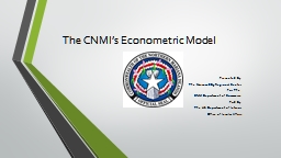 The CNMI's Econometric Model