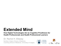 Extended Mind PowerPoint PPT Presentation