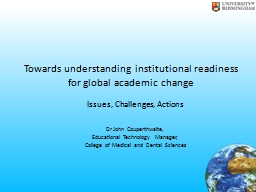 Towards understanding institutional readiness for global ac