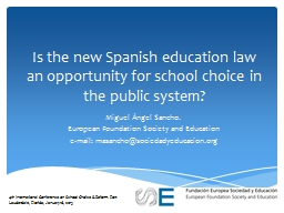Is the new Spanish education law an