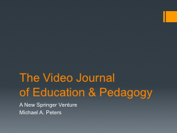 Video publishing: a new movement in scholarly communication