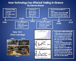 How Technology has Effected Trading in Finance