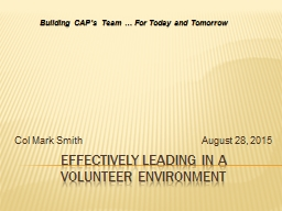 Effectively Leading in a