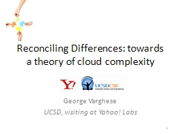 Reconciling Differences: towards a theory of cloud complexi PowerPoint PPT Presentation