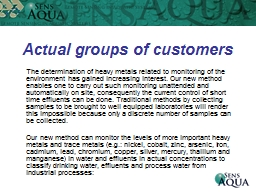 Actual groups of customers PowerPoint PPT Presentation