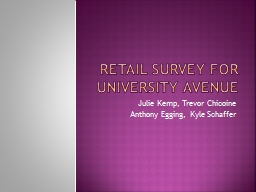 Retail Survey for University Avenue PowerPoint Presentation, PPT - DocSlides