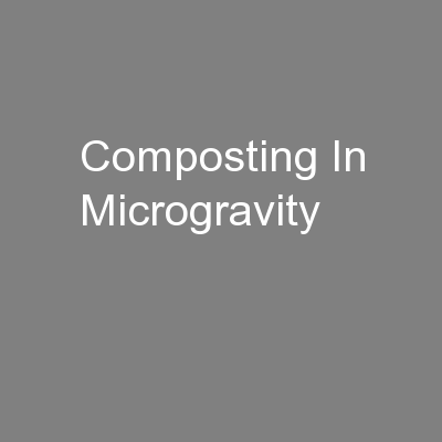 Composting In Microgravity