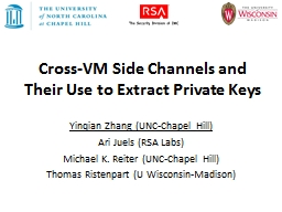 Cross-VM Side Channels and Their Use to Extract Private Key