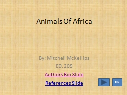 Animals Of Africa PowerPoint PPT Presentation