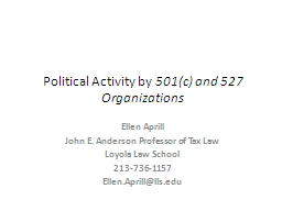 Political Activity by