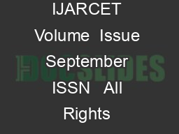 Internat ional Journal of Advanced Research in Computer Engineering  Technology IJARCET Volume  Issue  September  ISSN   All Rights Reserved   IJARCET  Capacity  Performance Comparison of SISO and MI
