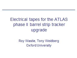Electrical tapes for the ATLAS phase II barrel strip tracke