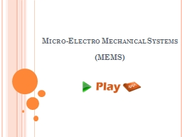 Micro-Electro Mechanical Systems